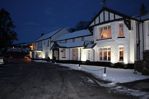 Snow at the Two Bridges Hotel