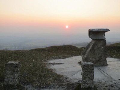Dartmoor sunset, looking towards Tavistock