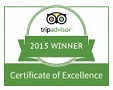 Certificate for quality from Trip Advisor for the Two Bridges Hotel