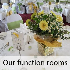 Wedding function rooms