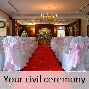 Civil ceremony at the Two Bridges Hotel