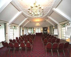 A large conference at the Two Bridges Hotel, Dartmoor, Devon