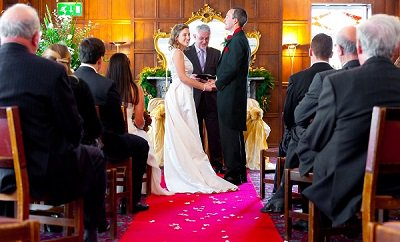 Civil Ceremony in the Tors Restaurant at the Two Bridges Hotel