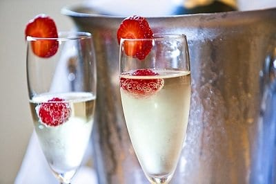Wedding Champagne at the Two Bridges Hotel