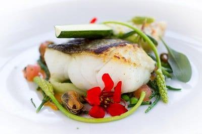 Fresh fish at the Two Bridges Hotel, Dartmoor