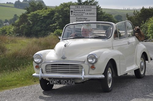 Classic Morris Minor at Two Bridges Hotel