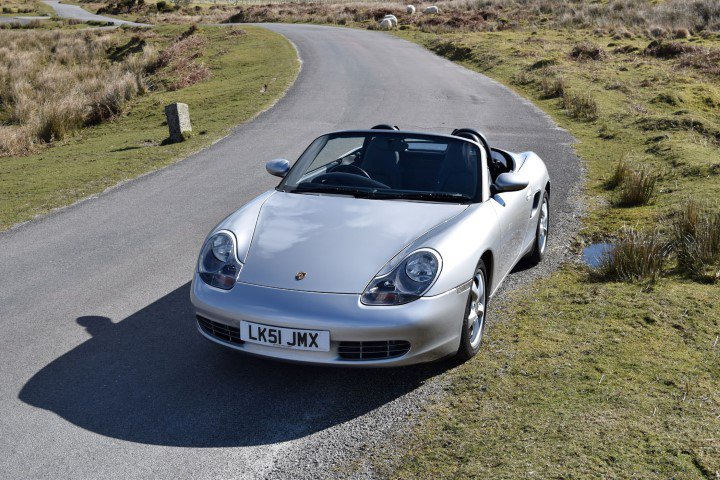 Porsche Boxter on Dartmoor