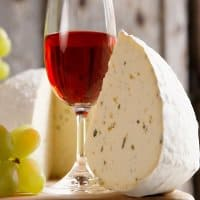 Sharpham wine and cheese