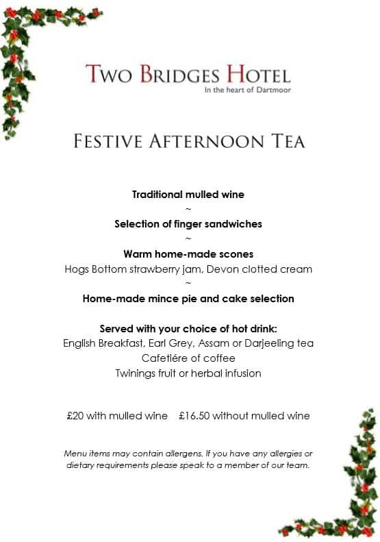 Festive Afternoon Tea at the Two Bridges Hotel