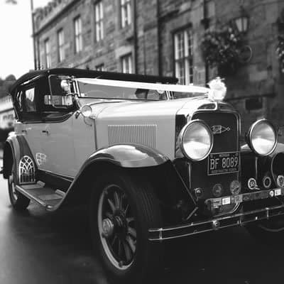 Vintage wedding car from CDEC Cars