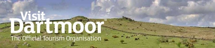 Vist Dartmoor logo and Dartmoor landscape