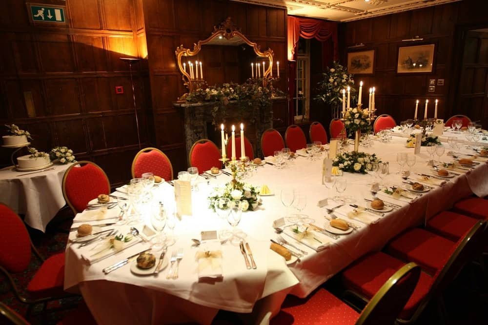 Dinner party at the Two Bridges Hotel