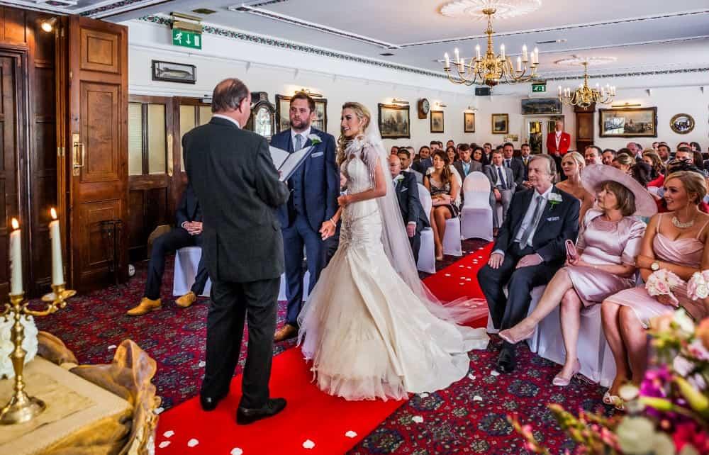 Wedding ceremony at Two Bridges Hotel