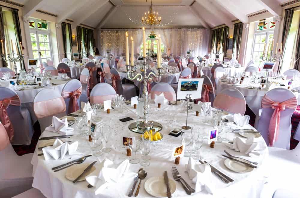 Wedding breakfast at Two Bridges Hotel on Dartmoor