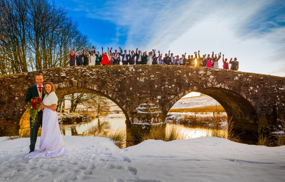 Winter wedding at Two Bridges Hotel