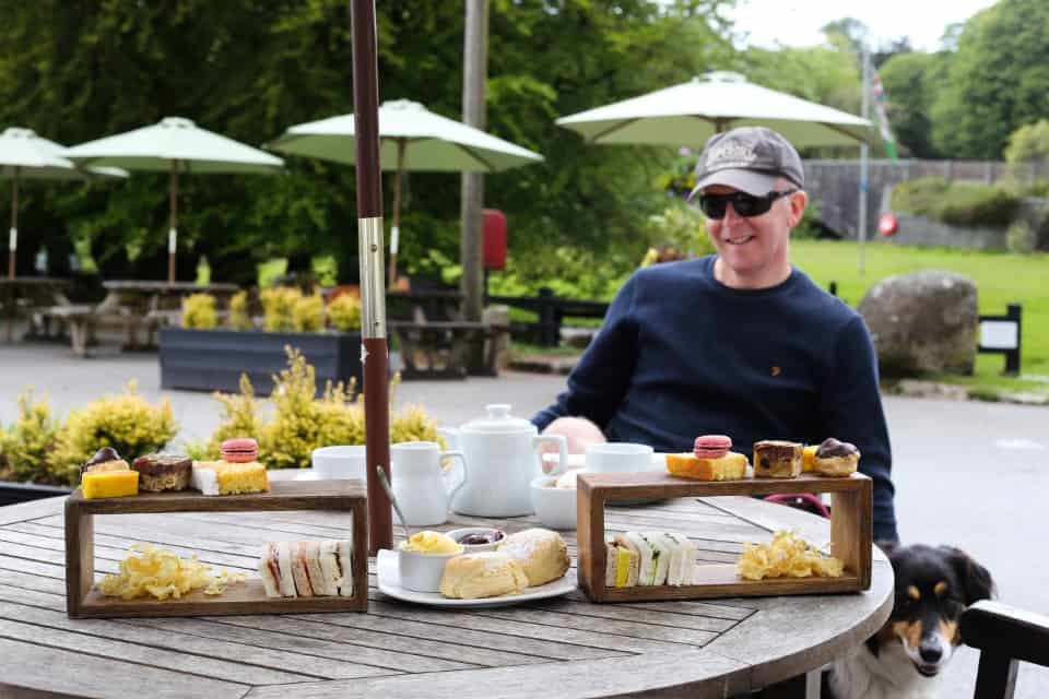 Afternoon tea at Two Bridges Hotel