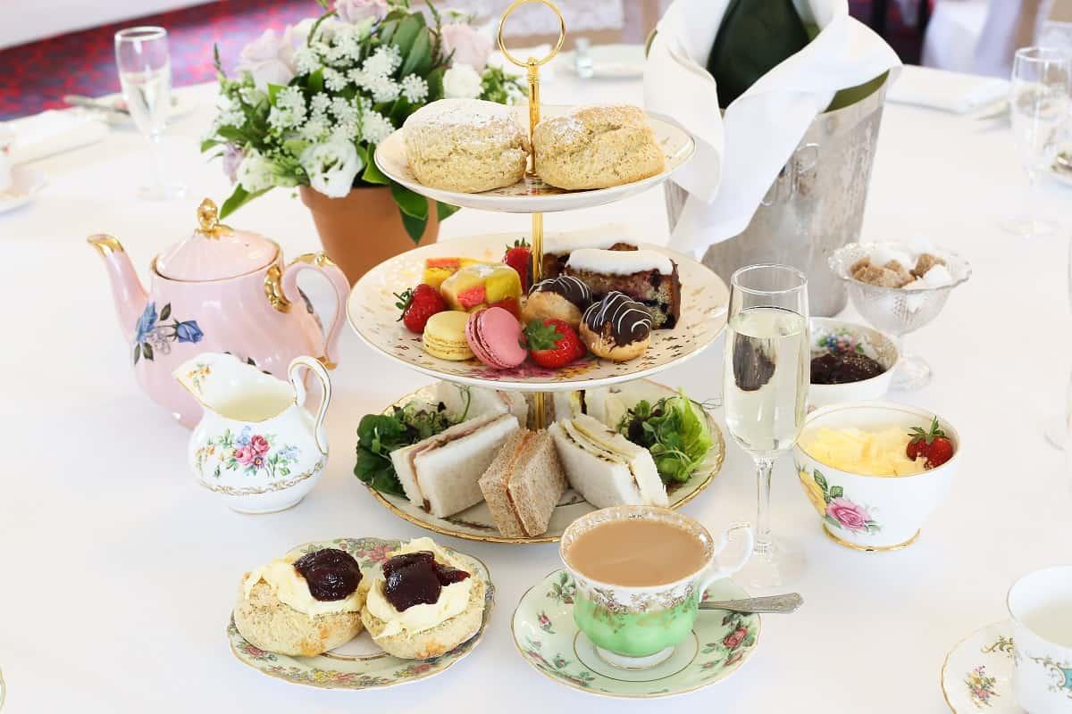 Afternoon Tea wedding reception at Two Bridges Hotel