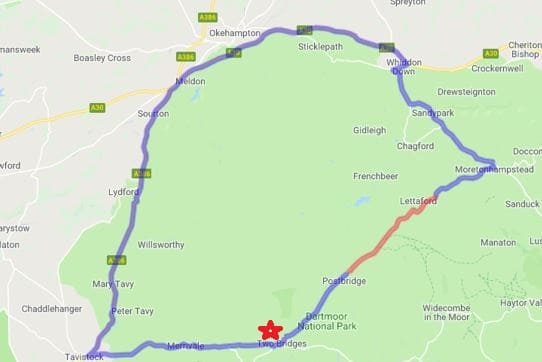 Map showing road closure and diversion