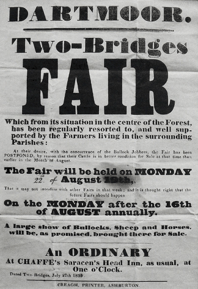 Old advert for Two Bridges Fair
