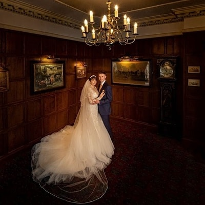 Bride and groom photographed by Chris Bunney
