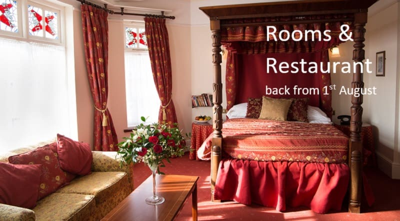 Rooms at the Two Bridges Hotel