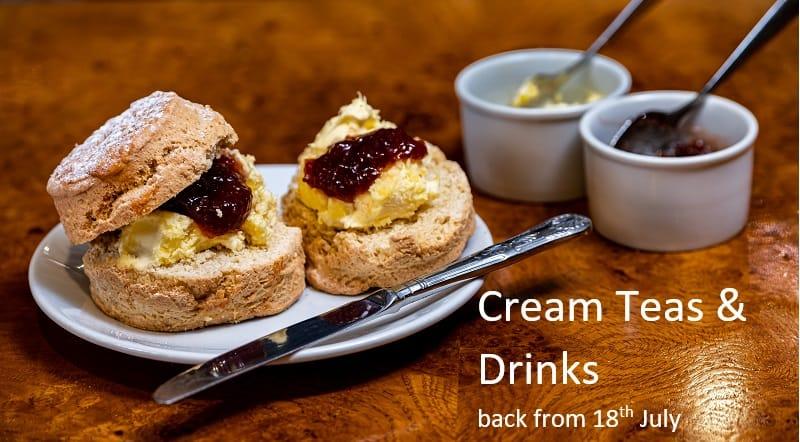 Cream tea at the Two Bridges Hotel