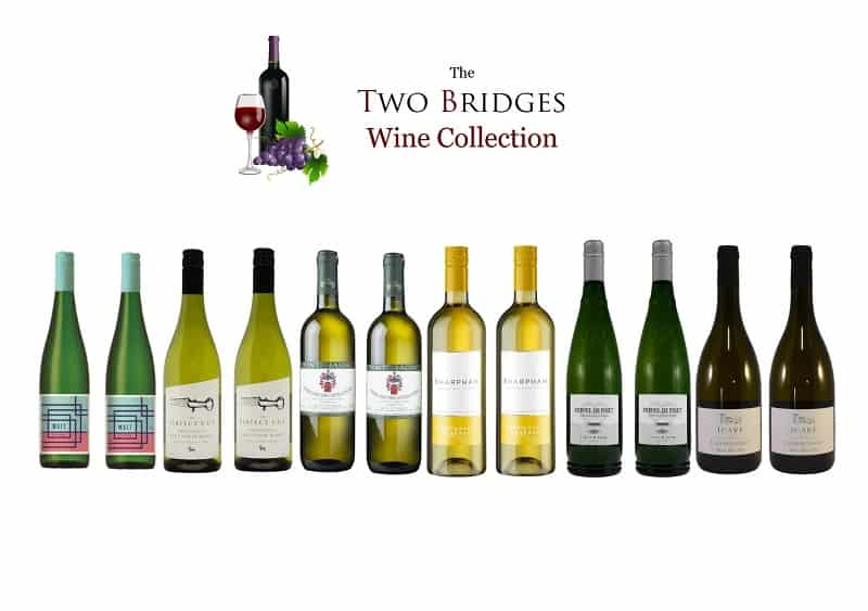 Case of wines from the Two Bridges Wine Collection