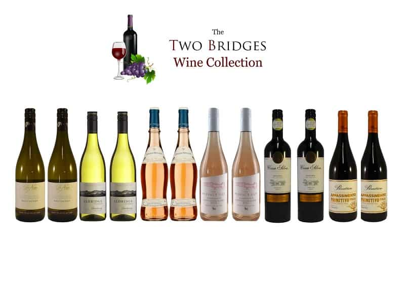 Case of red and white wines from Two Bridges Hotel