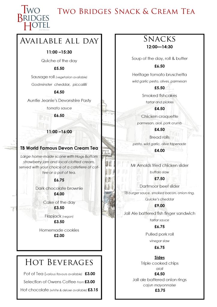 Daytime menu